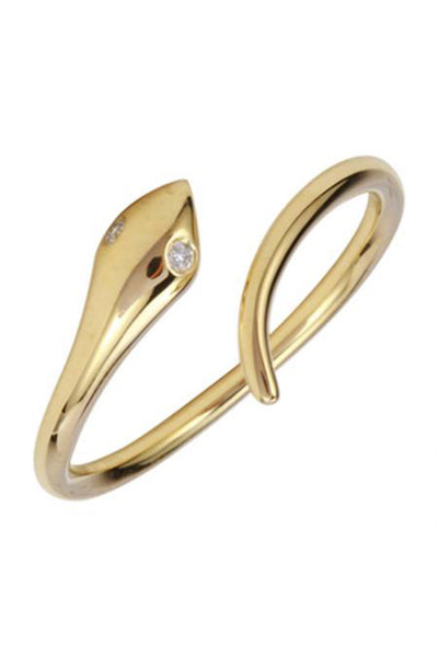 Mini Gold Serpent Ring