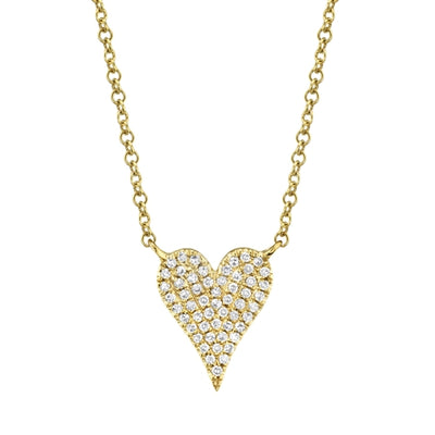 Mini Pave Heart Necklace