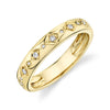 Solid Gold Diamond Starburst Ring