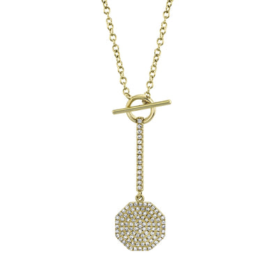 Pave Octagon Necklace