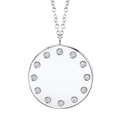 Engravable Mini Circle Pendant