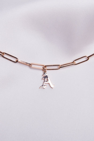 14k Gold Initial Charm