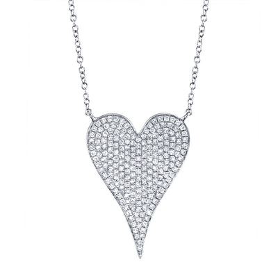 Jumbo Pave Heart Necklace