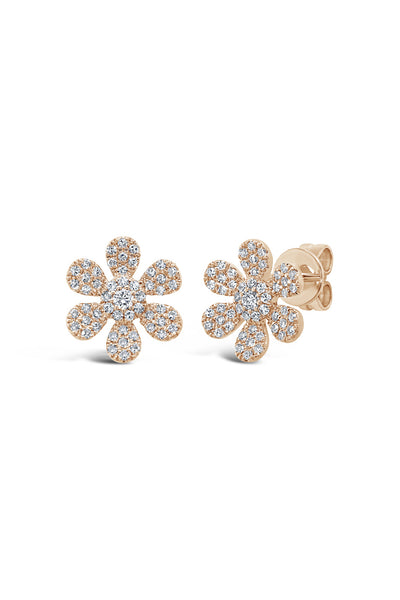 Pave Flower Earrings