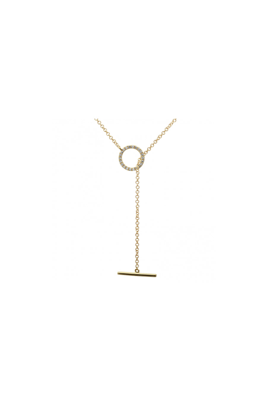 Circle Pave Toggle Lariat