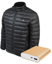 Men's Down Insulated Battery Heated Jacket (Battery Combo) - delspring