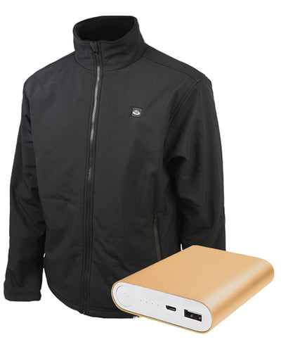 Weather Resistant Heated Work Jacket for Men (Battery Combo) - delspring