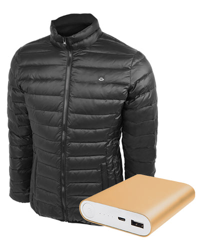 Women's Down Insulated Battery Power Heated Jacket (Battery Combo) - delspring