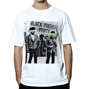 Black Panthers Medicinal Tee (White) - Pursuit Of Happiness