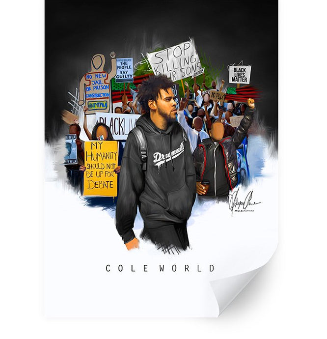 J.Cole Cole World Million Man March Black Lives Matter Poster