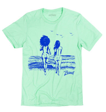 Ocean Views Mint Tee - Pursuit Of Happiness