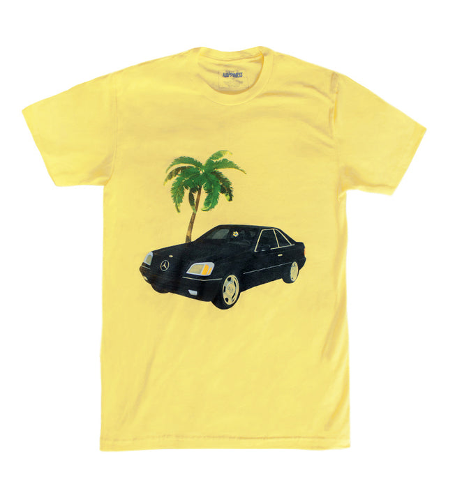 Banana Creme Yellow Retro 90's V12 Mercedes Benz Rick Ross Quote Shirt