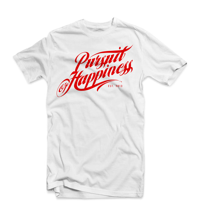 Pursuit Script Tee- Red - Pursuit Of Happiness