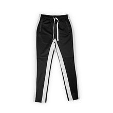 (Black/White) Single Strip Track Pants - Pursuit Of Happiness
