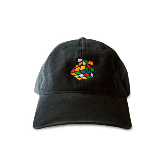 6 Panel Classic - Unstructured Black Rubik's Cube Dat Hat