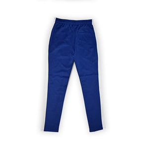 (Blue/White) Single Strip Track Pants - Pursuit Of Happiness
