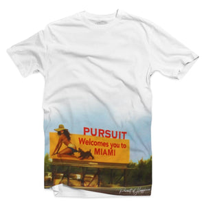 """Welcome To Miami"" Tee - Pursuit Of Happiness"