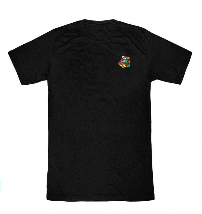 Rubik's Embroidery Tee (Black) - Pursuit Of Happiness