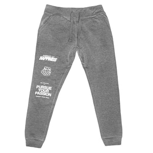 grey pursue your passion joggers