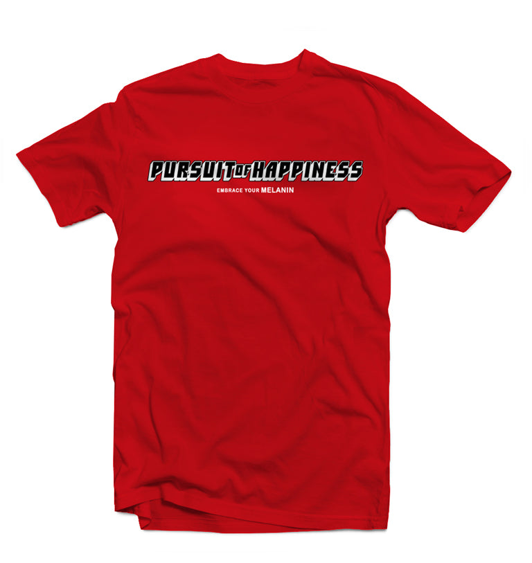 Embrace Your Melanin Tee (Red) - Pursuit Of Happiness