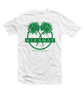"Green ""Miramar"" Home Of The Hustlers Tee - Pursuit Of Happiness"