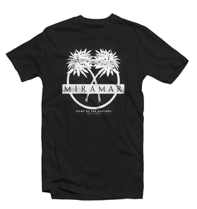 "Black ""Miramar"" Home Of The Hustlers Tee - Pursuit Of Happiness"