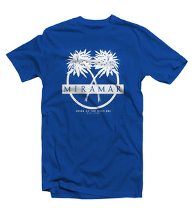 "Royal Blue ""Miramar"" Home Of The Hustlers Tee - Pursuit Of Happiness"
