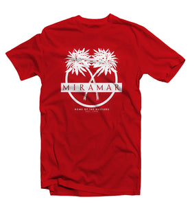 "Red ""Miramar"" Home Of The Hustlers Tee - Pursuit Of Happiness"