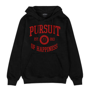 Pursuit Of Happiness University Hoodie (Black/Red) - Pursuit Of Happiness