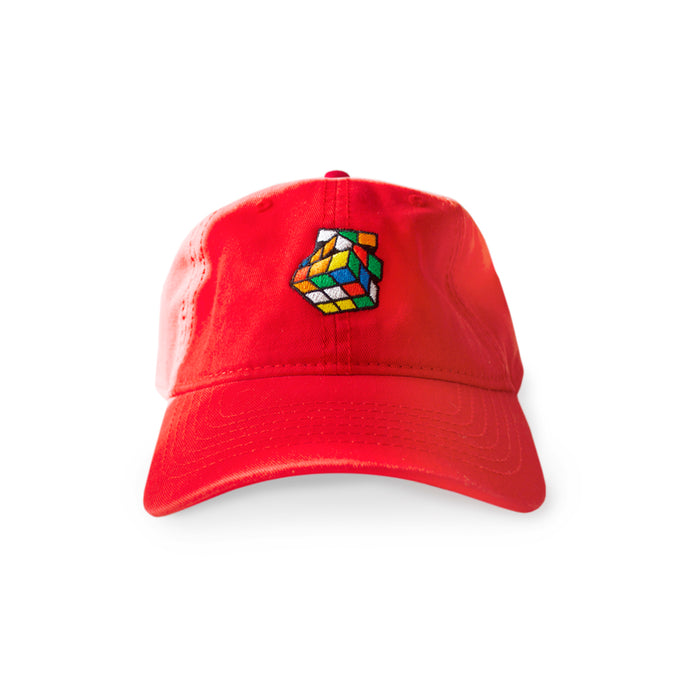 Rubik's Dad Hat (Red) - Pursuit Of Happiness