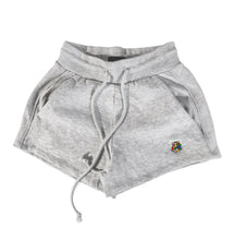 Embroidered Rubik's Women's Fleece Shorts (Grey)