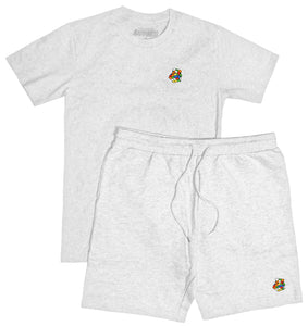 Embroidered Rubik's Set (Heather White)