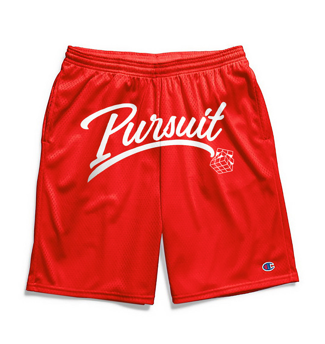 Pursuit Script Shorts- Red - Pursuit Of Happiness