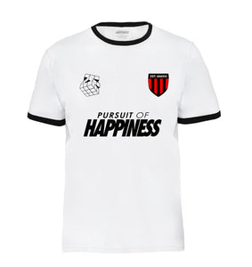 black and white pursuit of happiness soccer jersey