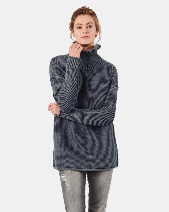 Karla Roll Neck Denim