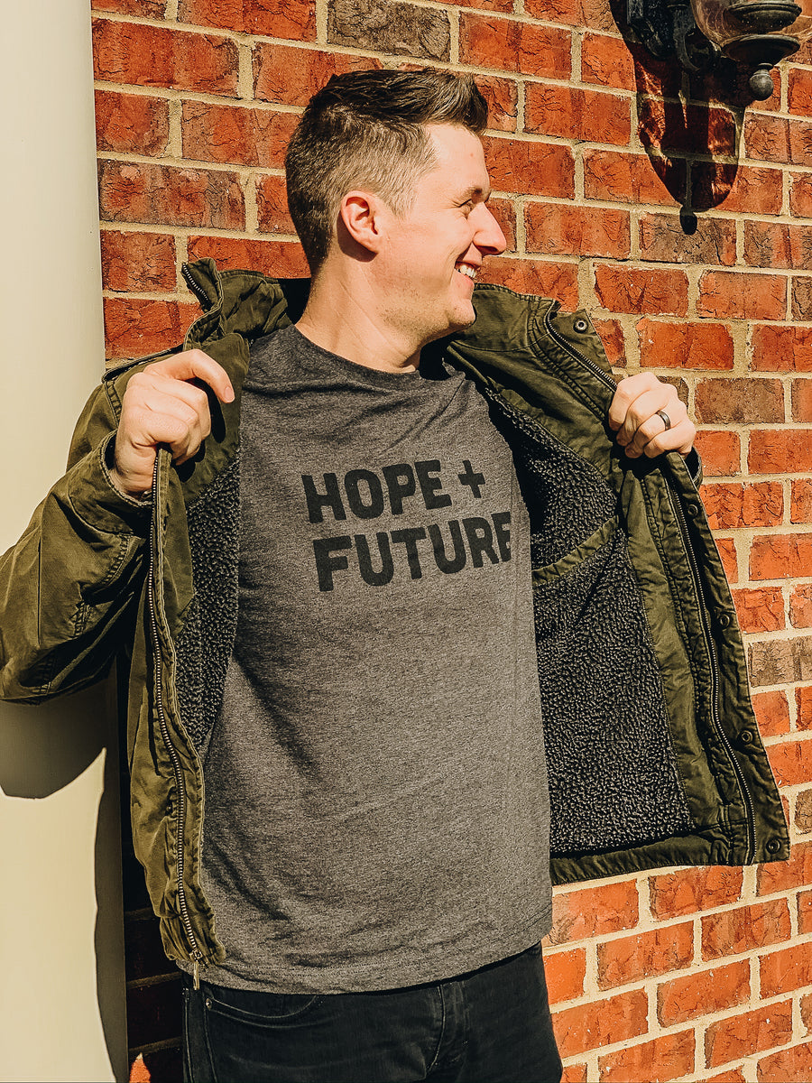 Dark Grey Heather Hope+Future Tee
