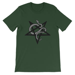 Satanic Serpent Pentacle Short-Sleeve Unisex T-Shirt