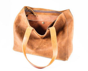 Zip Top Tote hillside earth nubuck