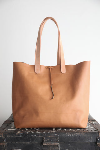 Everyday Tote cognac veg tan