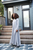 F20 Hoody Sweatshirt Maxi Dress, grey heather cotton fleece