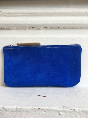 Cobalt Suede Nomadic Pouch