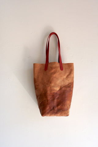 One Of A Kind Paper Bag Distressed Saddle Veg Tan