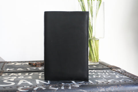 Journal Cover, black waxed