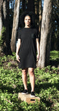 Pocket Tee Dress, black cotton