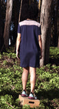 Pocket Tee Dress, navy cotton