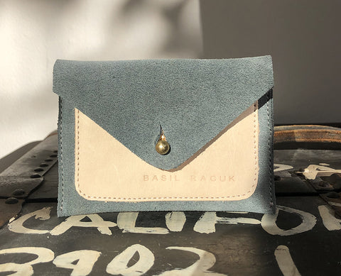 Pocket Wallet Greengrey Suede
