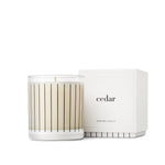 Studio Stockhome, Pinstripe Candle Collection, Cedar