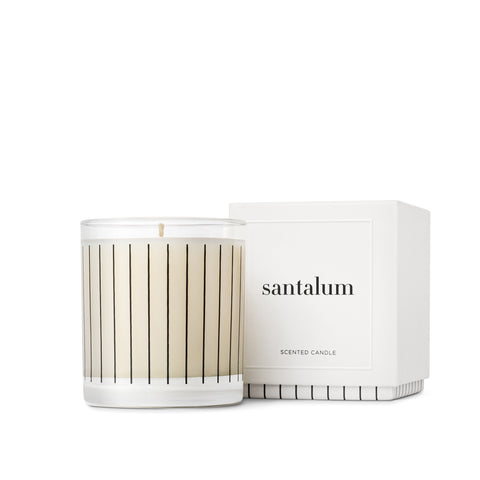 Studio Stockhome, Pinstripe Candle Collection, Santalum
