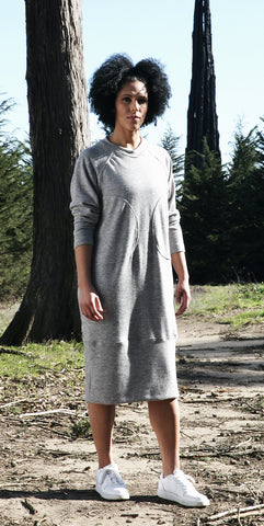 Raglan Dress, tech wool