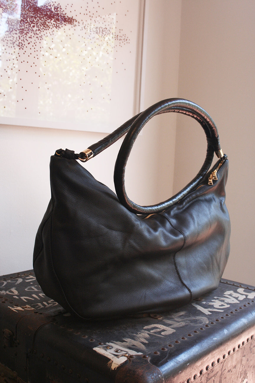 Zhora Bag in black calf
